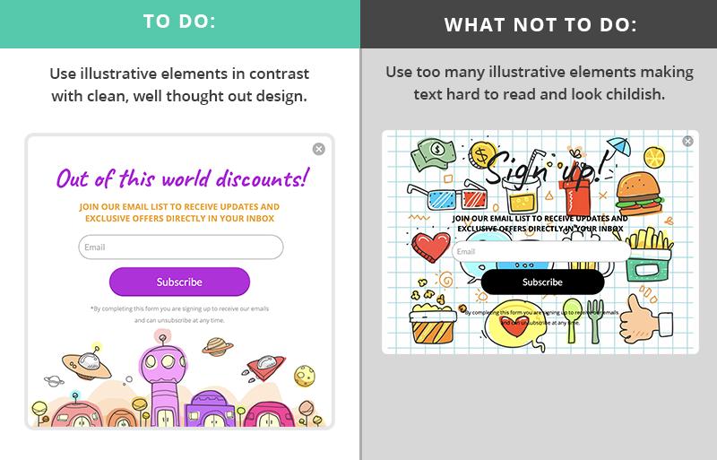 popup design examples