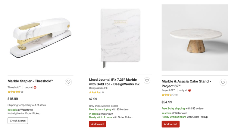 10 Design Trends in 2019_Marble Target
