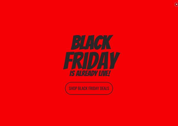 Black Friday Full Screen Popup