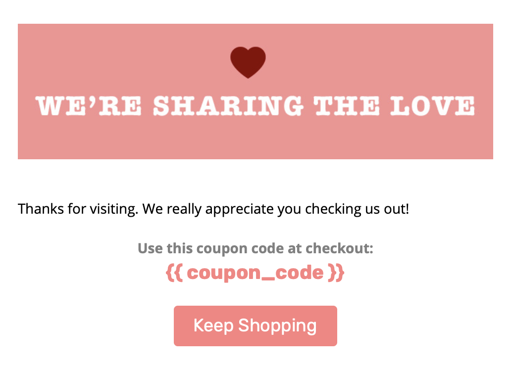 Email Header with Coupon Code