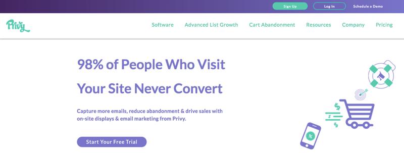 privy email list growth app