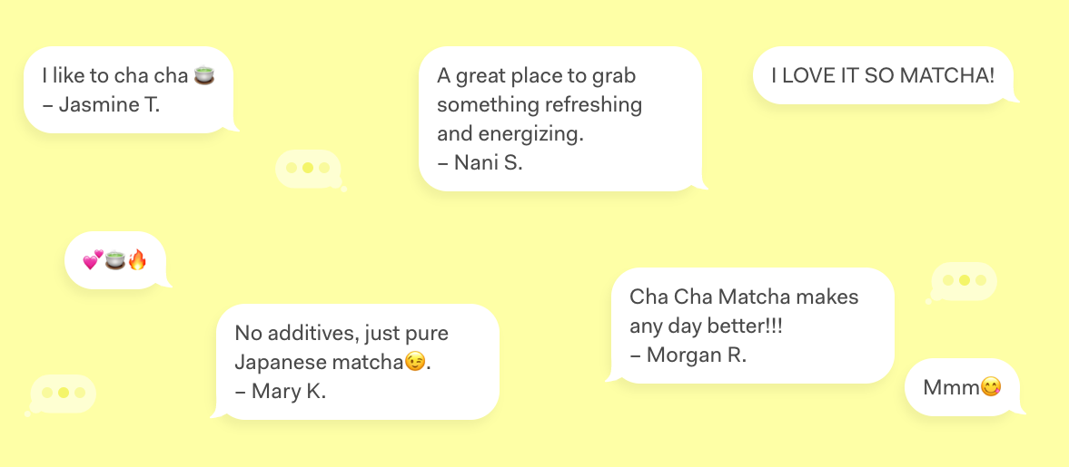 Cha Cha Matcha reviews