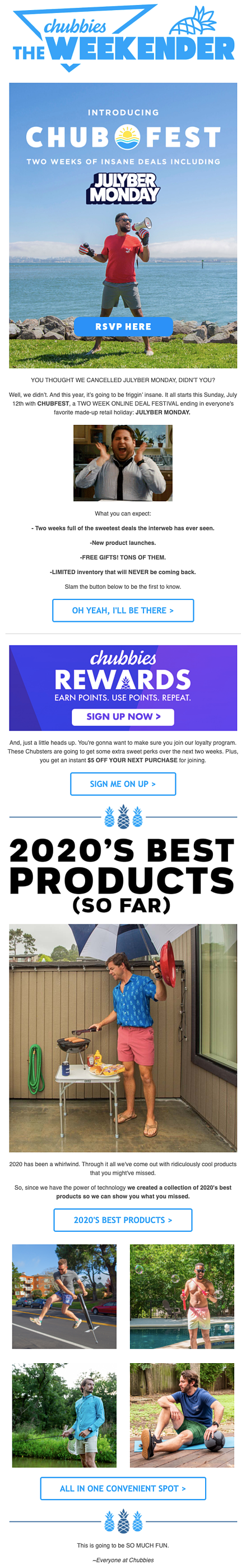 brand awareness email example