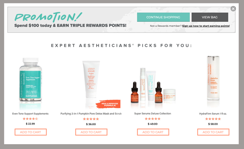 Urban Skin RX_Featured Products Pop Up