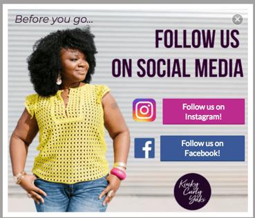 Kinky Curly Yaki Social Pop Up_Customer Examples