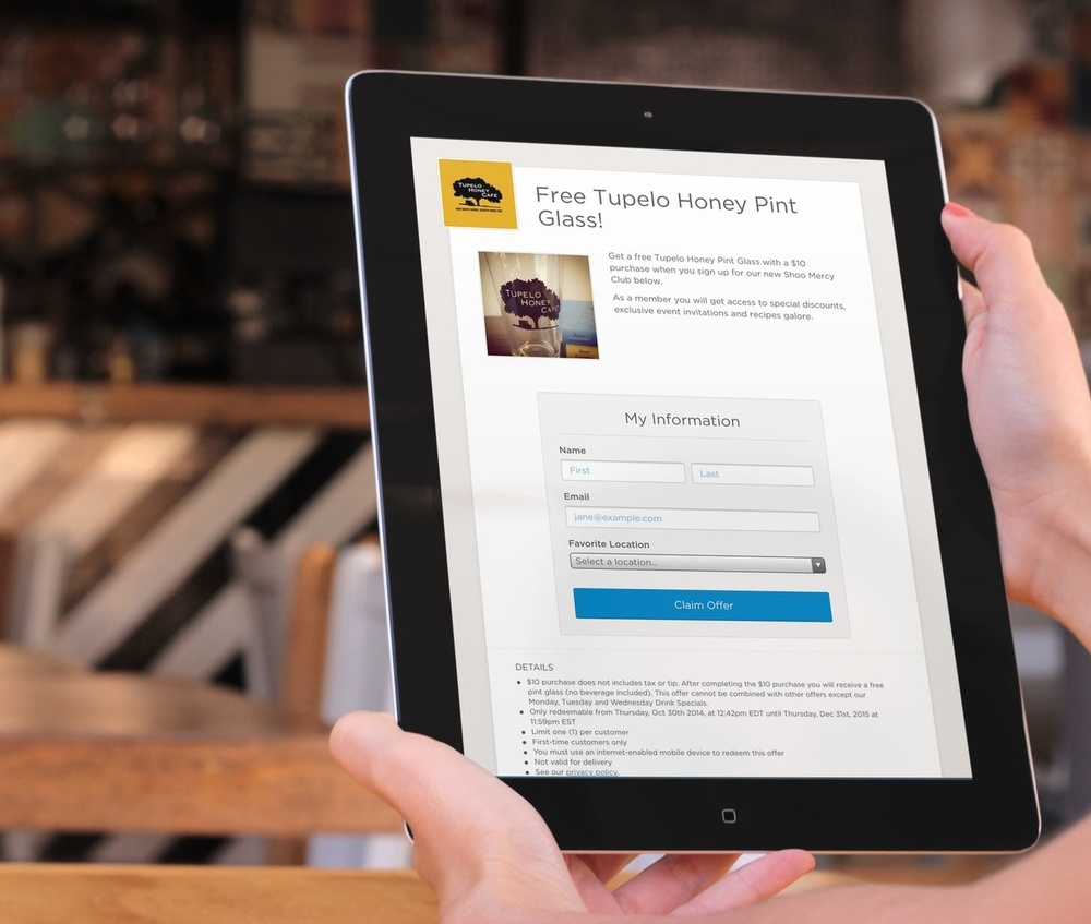 Landing Page on iPad