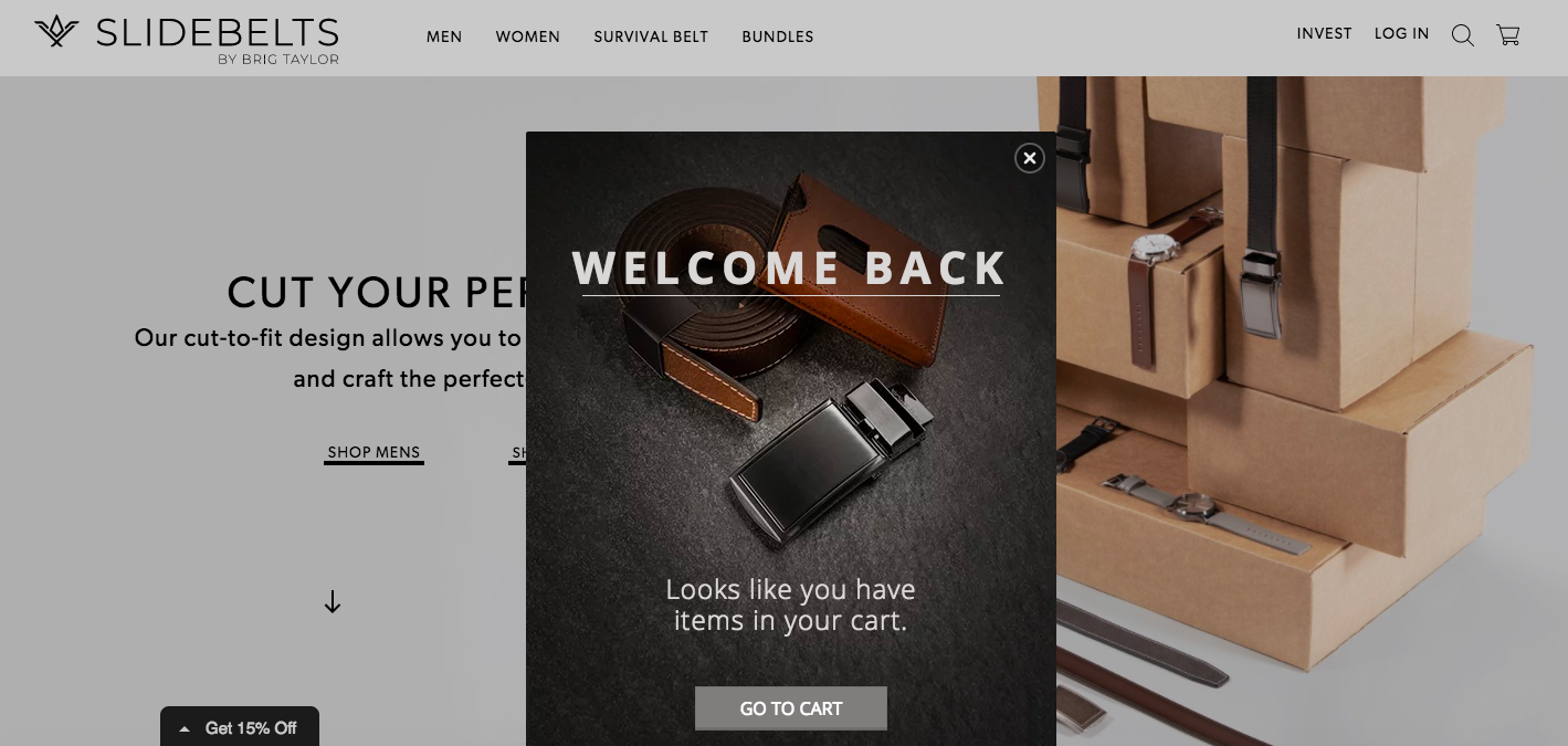 Slidebelts welcome back campaign