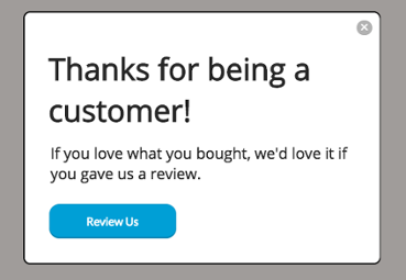 order count targeting review request