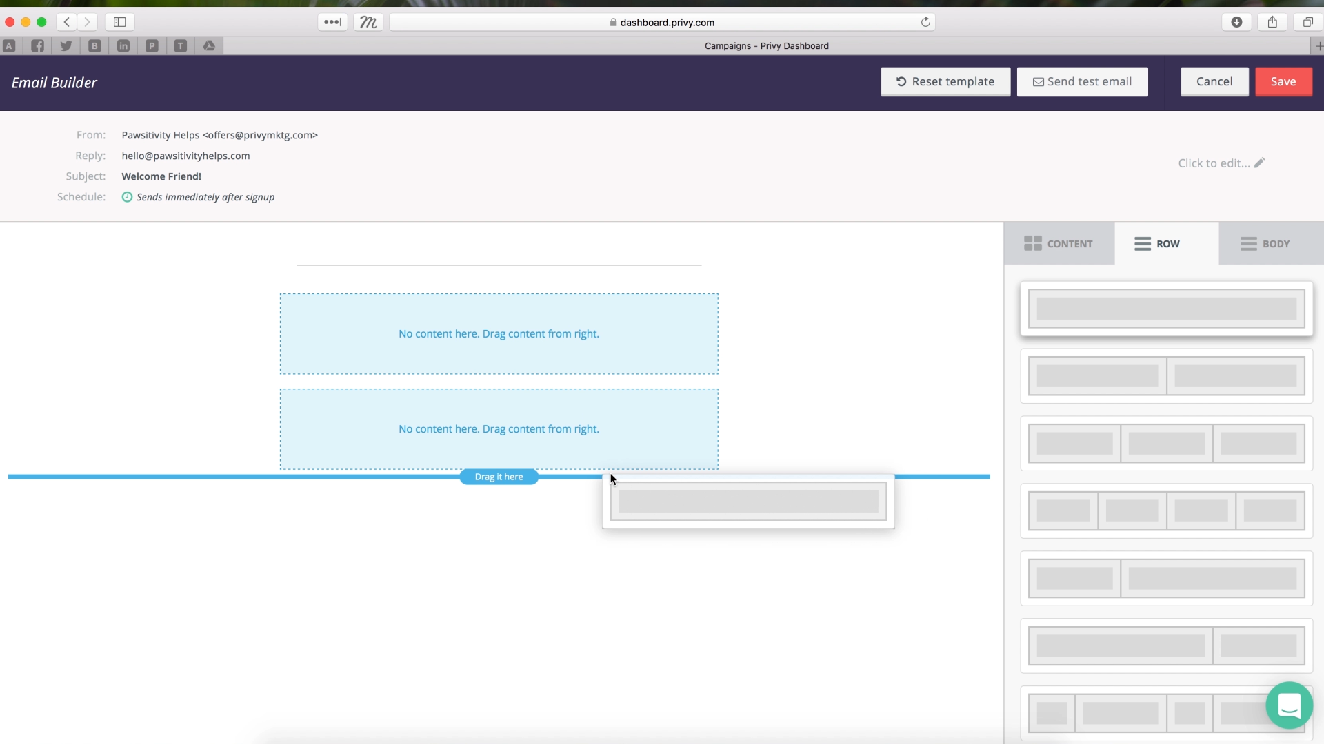 Drag and Drop Email Editor Demo_4