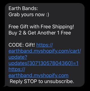 Earth Brands text marketing survey
