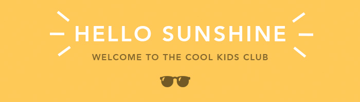 Email header_Welcome - Hello Sunshine