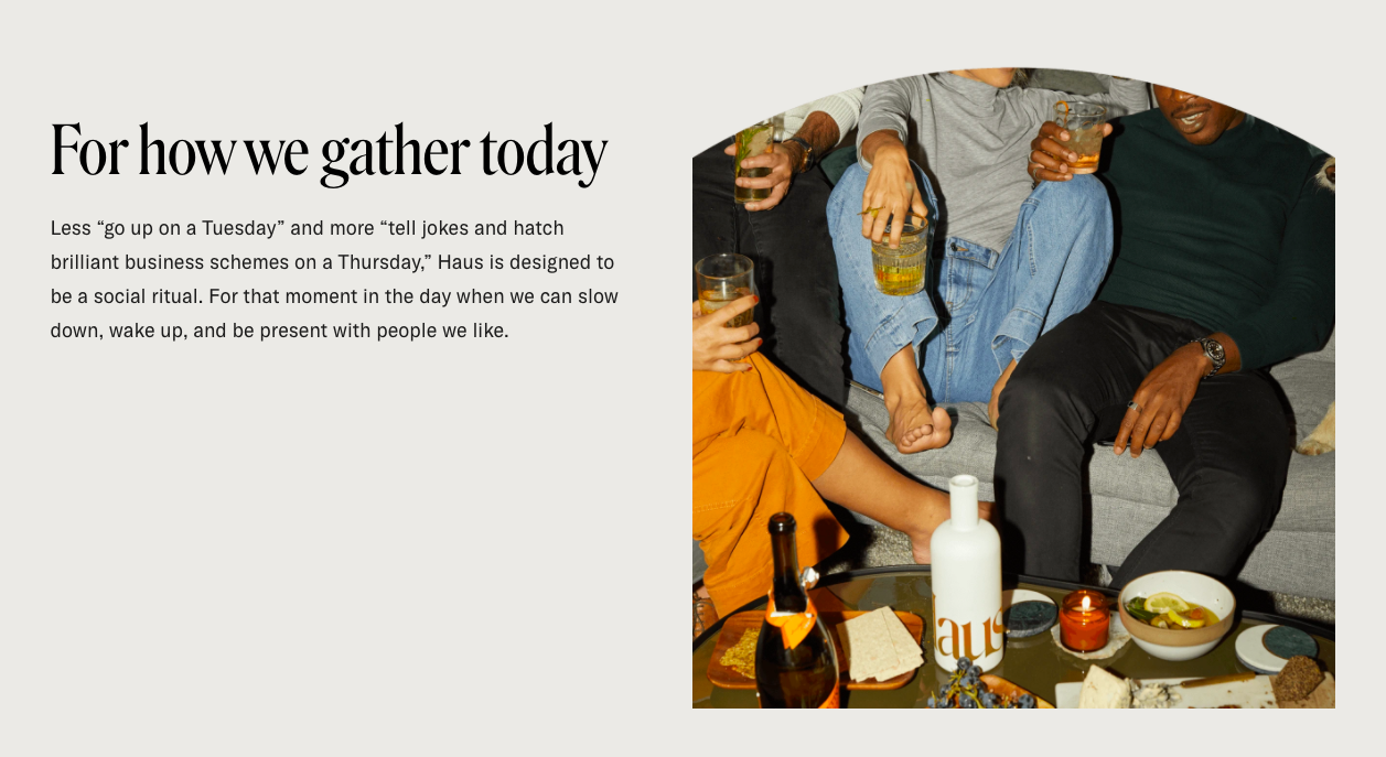 Haus for how we gather today