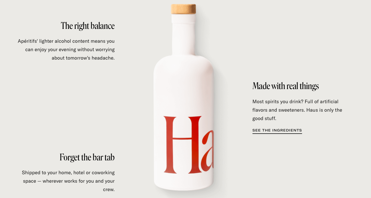 Haus product page