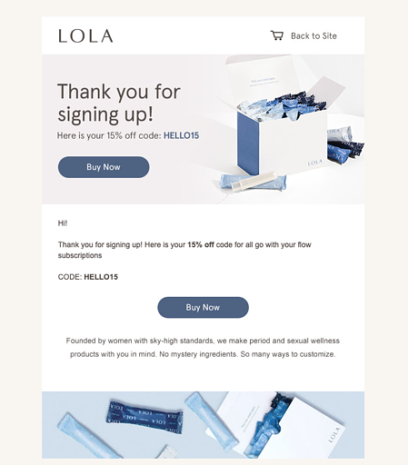 Lola Welcome Email 2