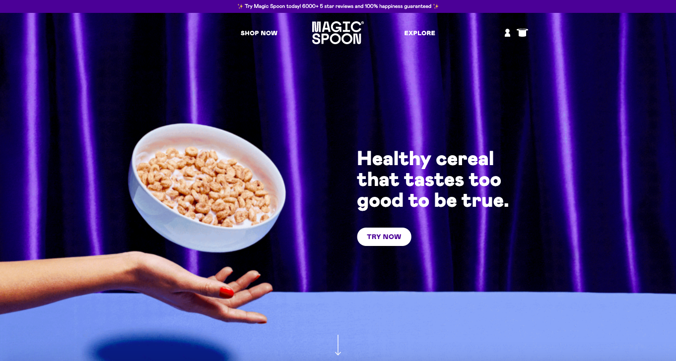 Magic Spoon homepage