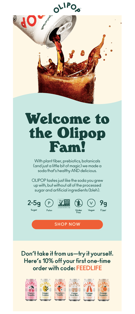 Olipop Welcome Email 2