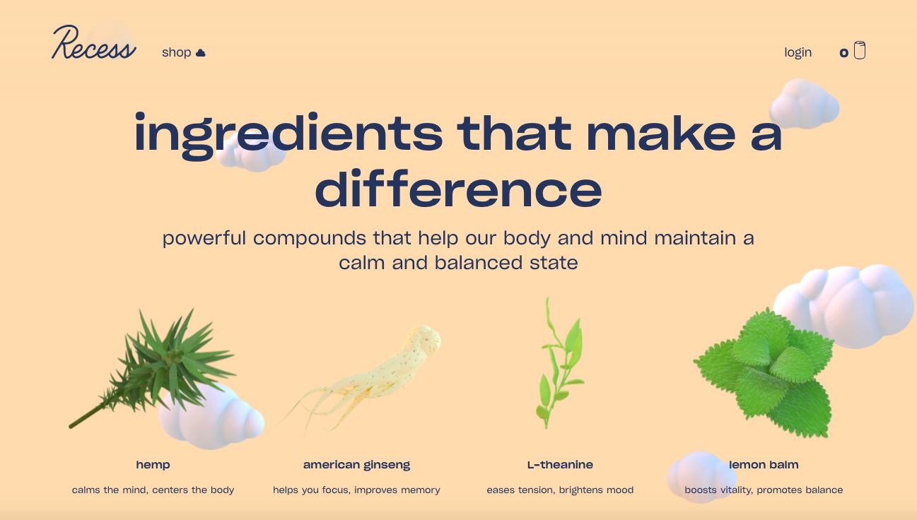 Recess ingredients