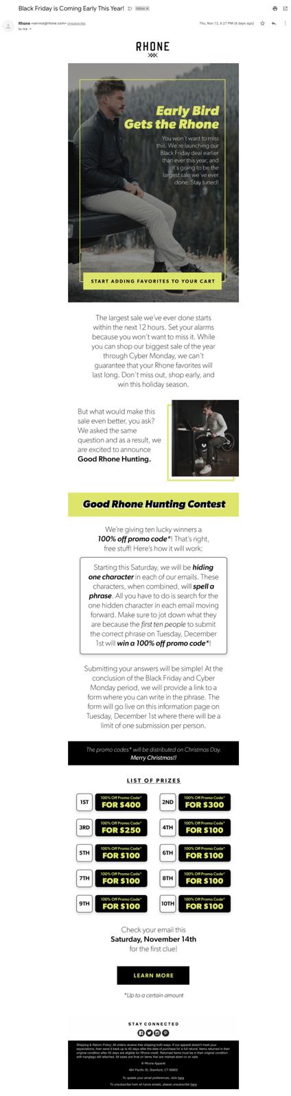 Rhone early BFCM announcement