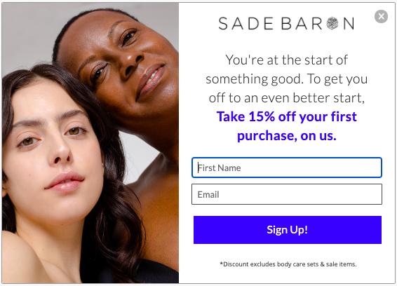 Sade Baron Welcome Campaign