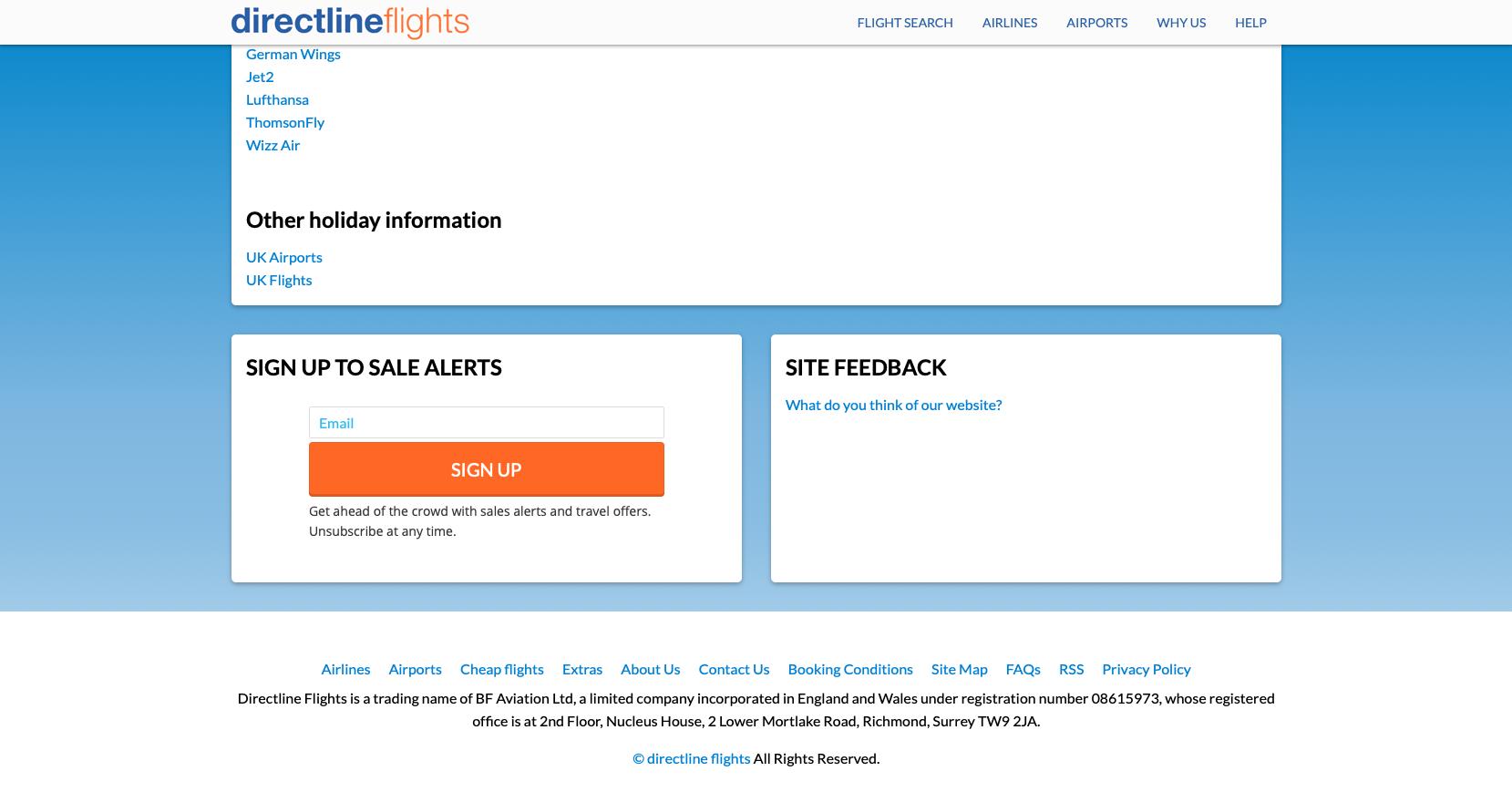 Directline Flights - Embedded Form Example