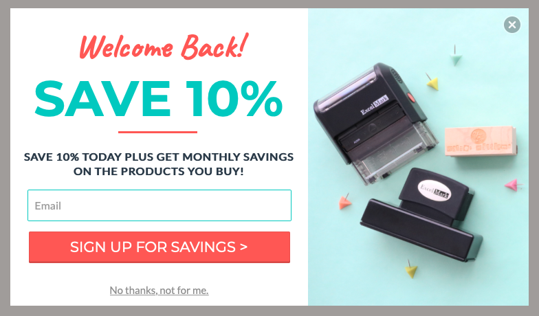 Rubber Stamps_Discount Pop Up