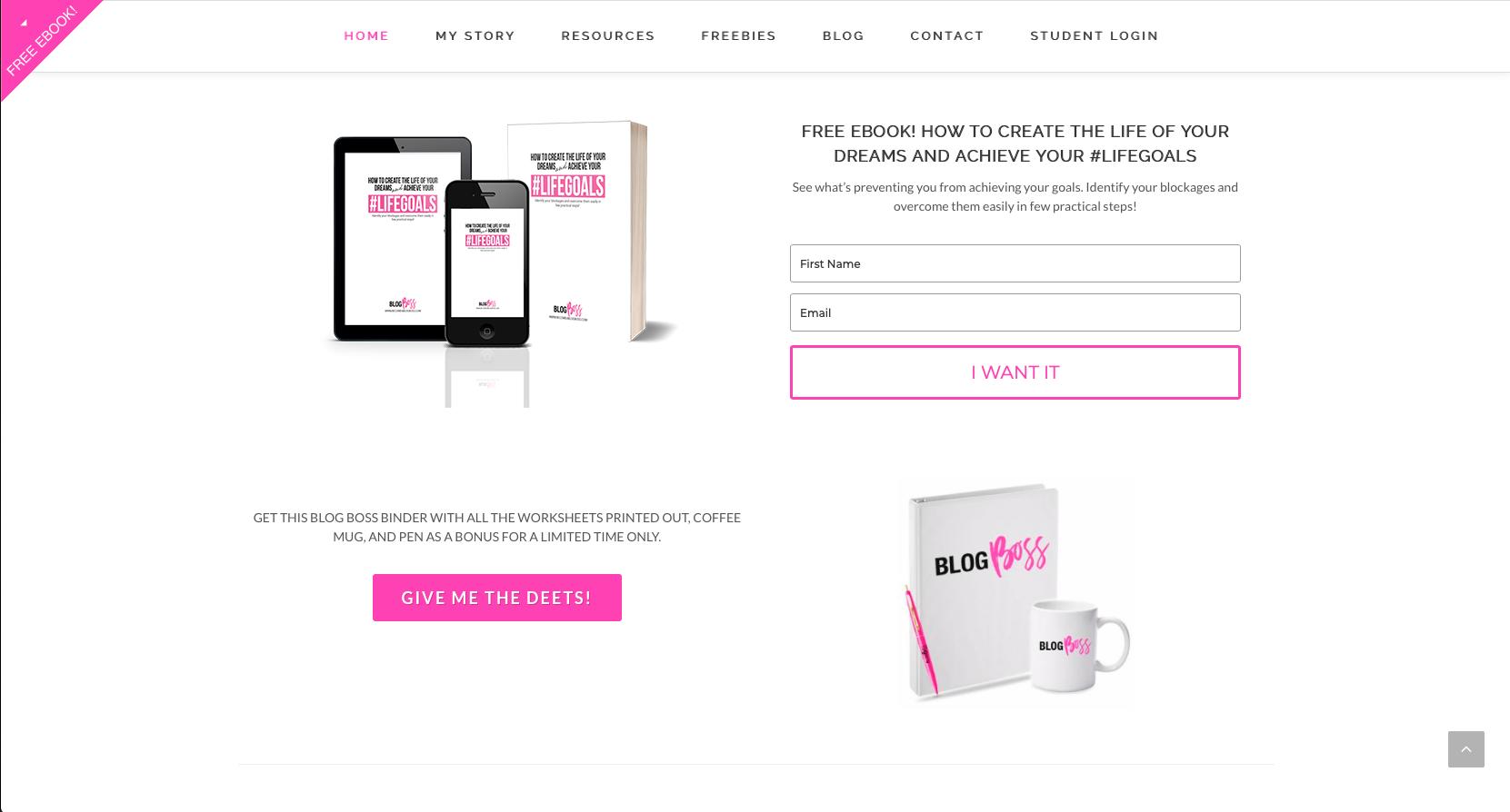 Blog Boss - Embedded Form Example