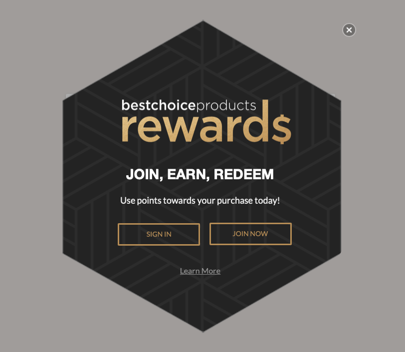 Best Choice Products_Smile Rewards Pop Up